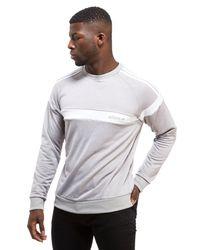 Adidas Originals | Gray Superstar Crew Sweatshirt for Men | Lyst