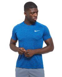 Nike - Blue Miler Cool T-shirt for Men - Lyst