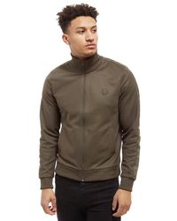 Fred Perry Green Tonal Tape Track Top for men