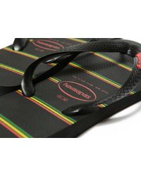 Havaianas - Black Top Stripes Flip Flops for Men - Lyst