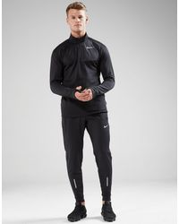 Nike - Black Sphere Element 1/2 Zip Running Top for Men - Lyst