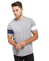 Fred Perry - Gray Blocked Panel T-shirt for Men - Lyst