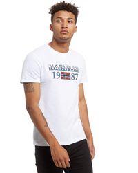 Napapijri - White Solin Short Sleeve T-shirt for Men - Lyst
