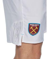 Umbro - White West Ham United 2017/18 Home Shorts - Lyst