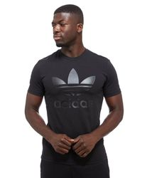 Adidas Originals - Black Curated Logo T-shirt for Men - Lyst