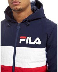 Fila - Blue Wilz Padded Jacket for Men - Lyst