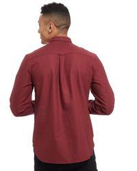 Lyle & Scott - Red Oxford Long Sleeve Shirt for Men - Lyst