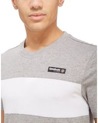 Reebok | Gray Classic Panel T-shirt for Men | Lyst
