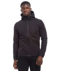 Napapijri - Black Addison Soft Shell Hooded Jacket for Men - Lyst