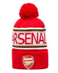 PUMA - Red Arsenal Pom Pom Beanie for Men - Lyst