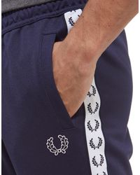 Fred Perry - Blue Sports Authentic Tape Track Pants for Men - Lyst