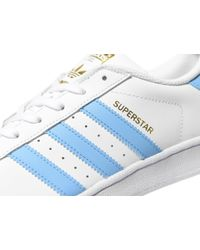Adidas Originals - Blue Superstar Foundation for Men - Lyst