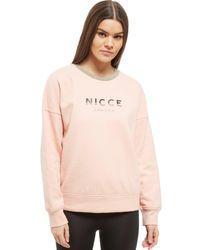 Nicce London - Pink Slice Logo Crew Sweatshirt - Lyst
