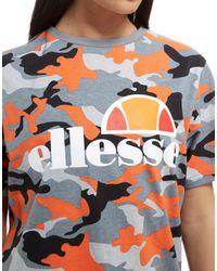 Ellesse - Gray Logo Boyfriend T-shirt - Lyst
