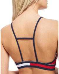 Tommy Hilfiger - Red Bikini Tape Top - Lyst