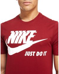 Nike - Red Futura Just Do It T-shirt for Men - Lyst