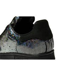 Adidas Originals - Black Stan Smith Metallic - Lyst