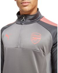 PUMA - Gray Arsenal 2017 1/4 Zip Training Top for Men - Lyst