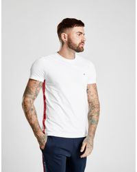 c4a475ab Tommy Hilfiger Side Tape T-shirt in White for Men - Lyst