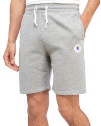 Converse | Gray Chuck Fleece Shorts for Men | Lyst