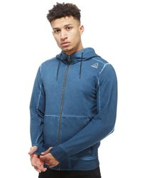 Reebok | Blue The Noble Fight Washed Zip Hoody for Men | Lyst