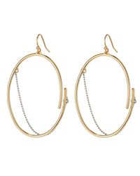 Jenny Bird - Metallic Rill Hoops - Small - Lyst