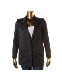 Tommy Hilfiger | Black Womens Houndstooth Jacquard One-button Blazer | Lyst