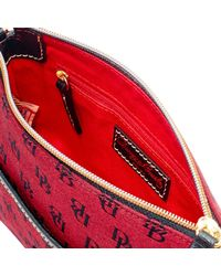 Dooney & Bourke - Red Madison Signature Ginger Pouchette - Lyst