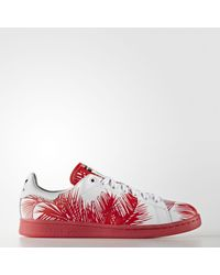 a8a5a2574 Lyst - adidas Originals Pharrell Williams Stan Smith Shoes in Red ...