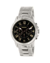 Fossil - Multicolor Grant Fs4994 Black Dial Watch for Men - Lyst