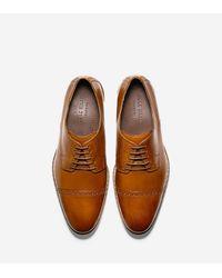 Cole Haan | Brown Preston Cap Toe Oxford for Men | Lyst