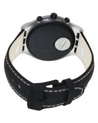 Swatch - Irony Svck4072 Black Leather Swiss Quartz Watch for Men - Lyst