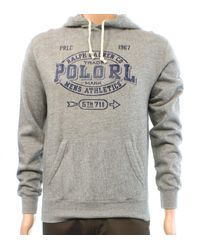 Polo Ralph Lauren - Gray Mens Size Small S Athletic Hooded Sweater for Men - Lyst