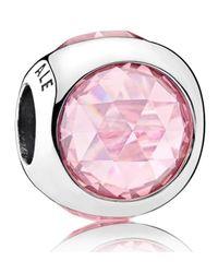 Pandora - Pink Radiant Droplets Charm - Lyst