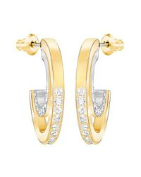 Swarovski - Multicolor Circle Hoop Pierced Earrings - Small - White - Mixed Plating - 5353208 - Lyst