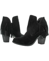 Jessica Simpson - Black Cecila Suede Ankle Booties Shoes - Lyst