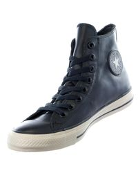 Converse - Blue Chuck Taylor Hi Rubber Casual Sneakers for Men - Lyst