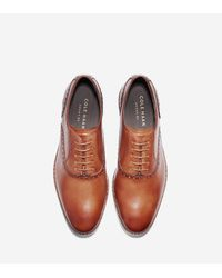 Cole Haan | Brown Hamilton Grand Plain Toe Oxford for Men | Lyst