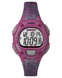 Timex - Multicolor Ironman Essential Tw5m076009 Gray Pink Resin Digital Unisex Watch - Lyst