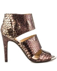 Jessica Simpson - Brown Elsbeth Women Us 7 Bronze Peep Toe Heels - Lyst