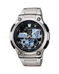 G-Shock | Metallic Ana-digi Watch Quartz Mineral Crystal Aq-190wd-1av for Men | Lyst