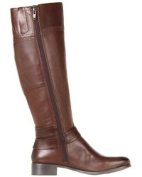a2607e5a7f3 Lyst - Nine West Shiza Knee-high Boot Brown in Brown