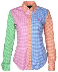 Polo Ralph Lauren - Blue Custom Fit Button Down Shirt-{a.amzcolor}-4 - Lyst