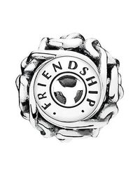 Pandora - Metallic Friendship Essence Collection Charm In - 796057 - Lyst