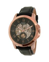 Fossil - Multicolor Me3054 Grant Leather Watch for Men - Lyst