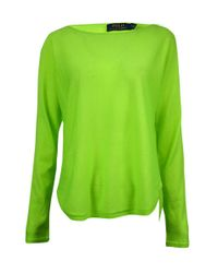 Polo Ralph Lauren - Green Dolman Merino Wool Sweater (s - Lyst