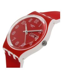 Swatch - Originals Gw705 Red Silicone Swiss Quartz Fashion Watch - Lyst