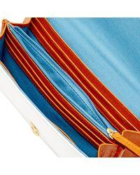 Dooney & Bourke - White Patent Daphne Crossbody Wallet - Lyst
