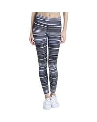 CALVIN KLEIN 205W39NYC - Blue Striped Performance Athletic Leggings - Lyst