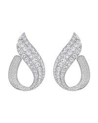 Swarovski - Metallic Fortunately Hoop Pierced Earrings - Lyst